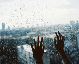 Mãos na janela, sinal de paz em meio a tantos caos