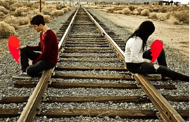 Casal separado, após um relacionamento que não deu certo